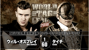 7TH MATCH NO.1 CONTENDER MATCH FOR NEVER OPENWEIGHT CHAMPIONSHIP Will Ospreay VS Taichi画像