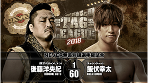 8TH MATCH NEVER OPENWEIGHT CHAMPIONSHIP MATCH Hirooki Goto VS Kota Ibushi画像