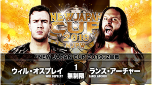 7TH MATCH NEW JAPAN CUP 2019 2ND ROUND Will Ospreay VS Lance Archer画像