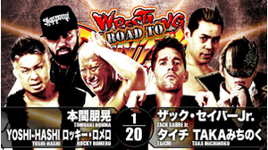 2ND MATCH Tomoaki Honma&YOSHI-HASHI&Rocky Romero VS Zack Sabre Jr.&Taichi&Taka Michinoku画像
