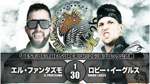 7TH MATCH BEST OF THE SUPER Jr. 26 - B BLOCK TOURNAMENT MATCH EL Phantasmo VS Robbie Eagles画像