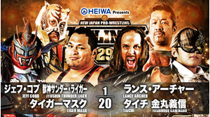 2ND MATCH Jeff Cobb&Jyushin Thunder Liger&Tiger Mask VS Lance Archer&Taichi&Yoshinobu Kanemaru画像