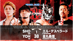 6TH MATCH SUPER JR. TAG LEAGUE 2019 YOH&SHO VS El Desperado&Yoshinobu Kanemaru画像