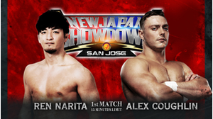 1ST MATCH Ren Narita VS Alex Coughlin画像