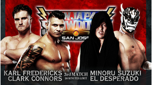 3RD MATCH Karl Fredericks&Clark Connors VS Minoru Suzuki&El Desperado画像