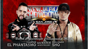 6TH MATCH BRITISH CRUISERWEIGHT CHAMPIONSHIP MATCH EL Phantasmo VS SHO画像